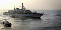 HMS RICHMOND RETURNS FROM THE GULF on 19-12-07